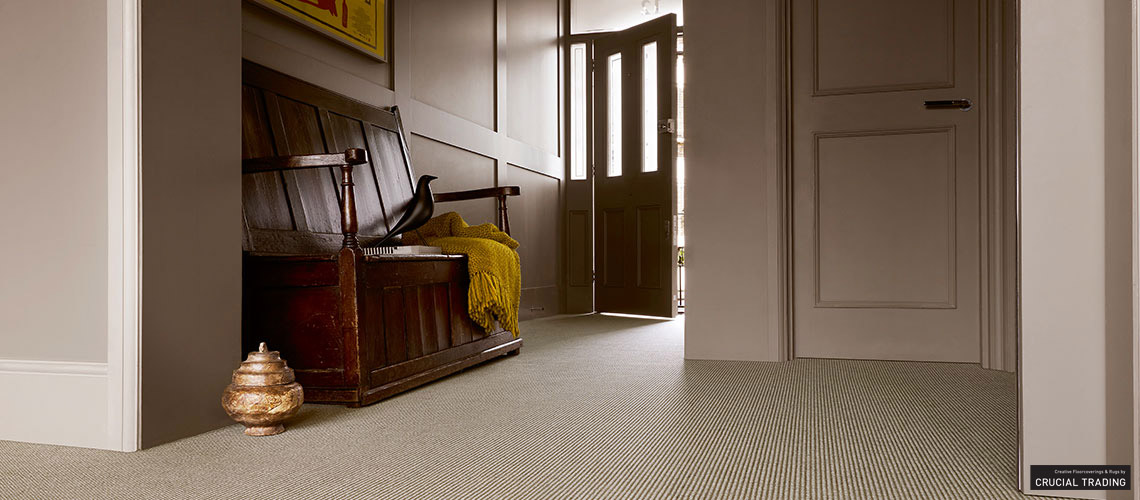 Crucial Flooring Linen Wool Carpet in Pale Grey