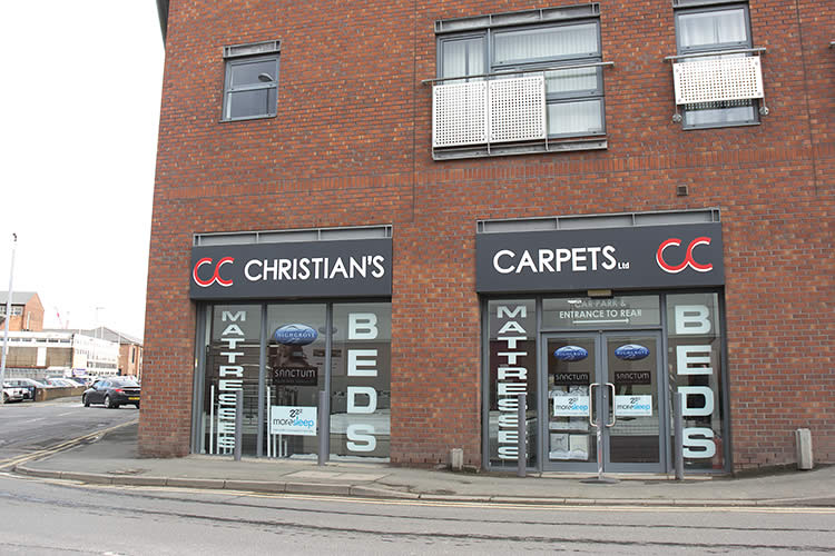 Christian's Carpets Bed & Mattress Showroom Exterior